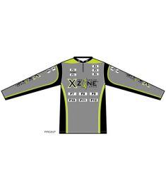 X-Zone Womens 1/4 Zip-Stand Collar UV jersey