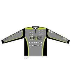 X-Zone Mens 1/4 Zip Collar UV Jersey