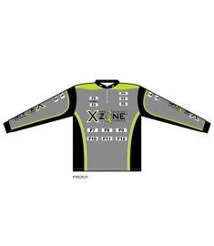 X-Zone Mens 1/4 Zip-Stand Collar UV jersey