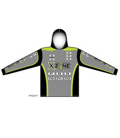 X-Zone Mens Hooded UV Jersey