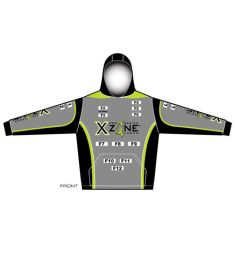 X-Zone Mens Performance Fleece Hoodie with Pouch Pocket