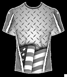 Americana Metallic Jersey-Grey