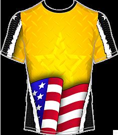 Americana Metallic Jersey-Yellow