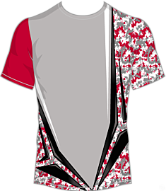 Camo-Chisel Jersey-Grey/Red