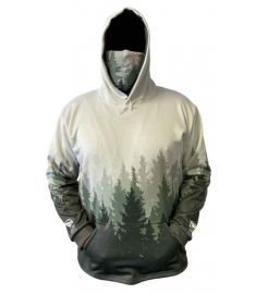Bandit Timber Mens Performance Fleece Hoodie with Gaiter and Pouch Pocket