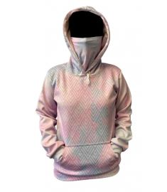 Bandit Candy Floss Womens Performance Fleece Hoodie with Gaiter and Pouch Pocket