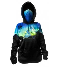 Bandit Northern Lights Womens Performance Fleece Hoodie with Gaiter and Pouch Pocket