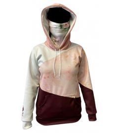 Bandit Triangles Womens Performance Fleece Hoodie with Gaiter and Pouch Pocket