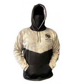 Bandit Camo Mens Performance Fleece Hoodie with Gaiter and Pouch Pocket