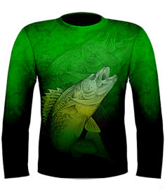 Kevin Hurrie Walleye Jersey-Black/Green