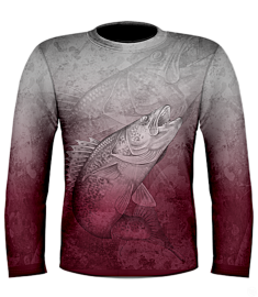 Kevin Hurrie Walleye Jersey-Grey/Red