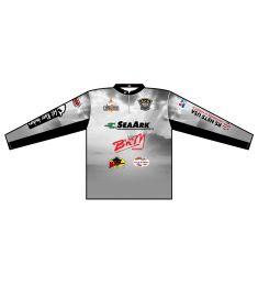 Cat Masters Mens Quarter Zip Stand Long Sleeve Jersey Preconfigured Logos