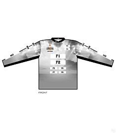 Cat Masters Mens Quarter Zip Stand Long Sleeve Jersey