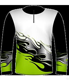 RH Flames Jersey-Green