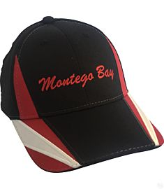 Montego Bay Red Contrast Spikes Hat